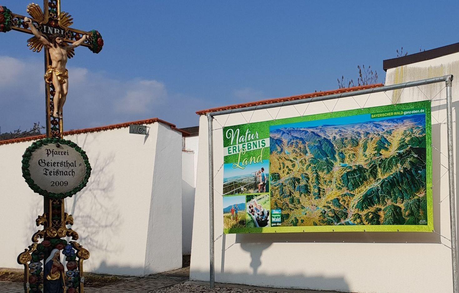 panoramakarte bayerischer wald ganz oben