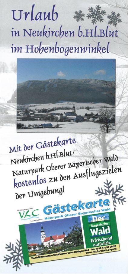 Bayerischer Wald Karte Kostenlos.Infoflyer Zur Gästekartennutzung Winter 2016 17 Markt 93453