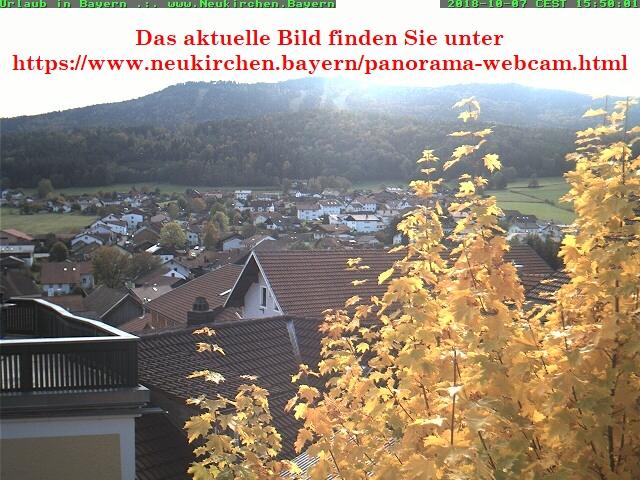 Aktuelles Webcam-Bild - vom Hohenbogen aus Neukirchen